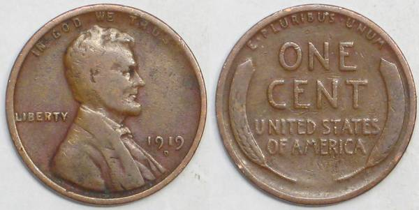 1919 D Lincoln Cent G4