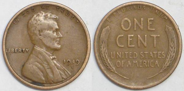 1919 S Lincoln Cent F15