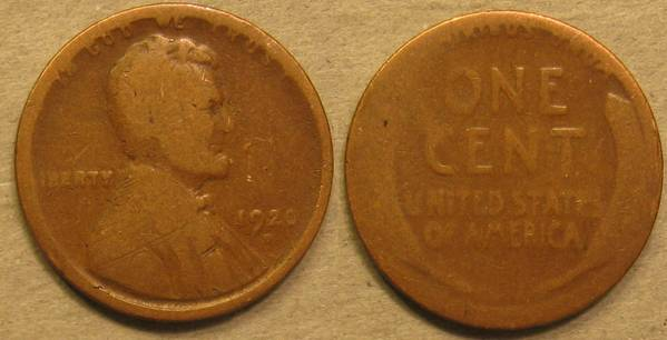 1920 D Lincoln Cent FR2