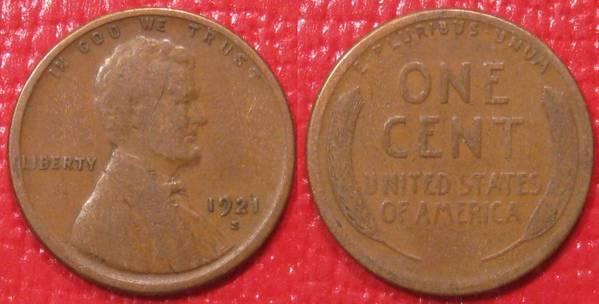 1921 S Lincoln Cent G6
