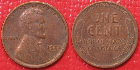 1922 D Lincoln Cent VF30