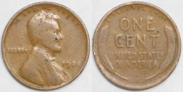 1924 P Lincoln Cent G4