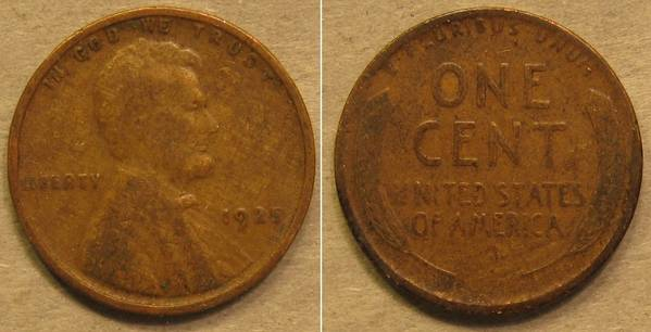 1925 P Lincoln Cent G4