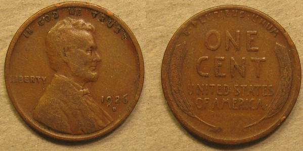 1926 D Lincoln Cent VG8