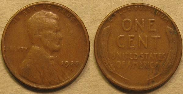 1927 S Lincoln Cent G6