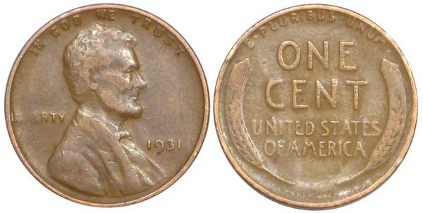 1931 P Lincoln Cent VG8