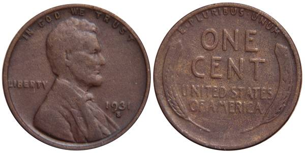 1931 S Lincoln Cent F12