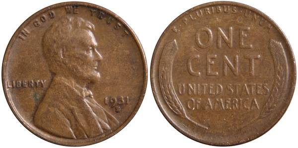 1931 S Lincoln Cent F15