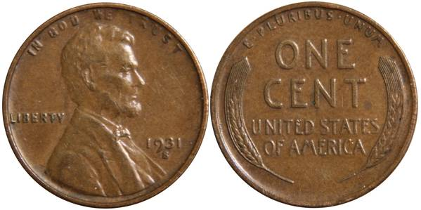 1931 S Lincoln Cent VF