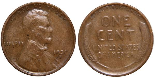 1931 S Lincoln Cent