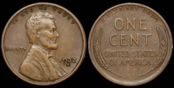 1932 D Lincoln Cent VF30