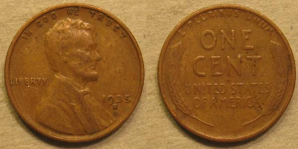 1935 S Lincoln Cent F12