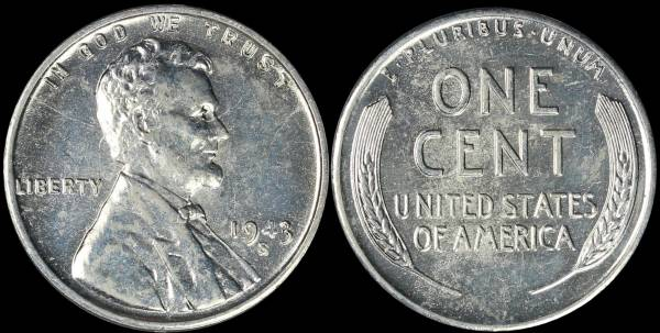 1943 S LIncoln Cent BU Uncirculated Coin 2