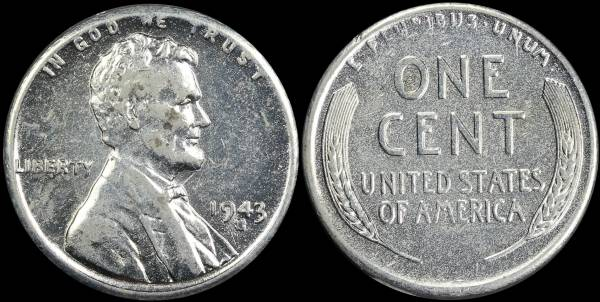 1943 S LIncoln Cent BU Uncirculated Coin 3