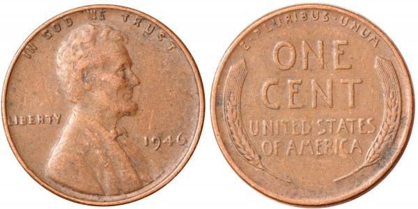 1946 P Lincoln Cent VF25