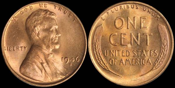 1946 S Roll OBW uncirculated roll coin 1