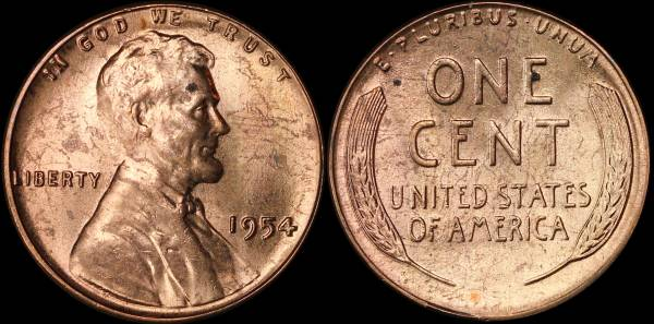 1954 P Lincoln Cent BU Uncirculated
