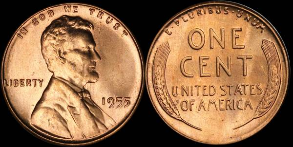 1955 P Lincoln Cent BU Uncirculated 2