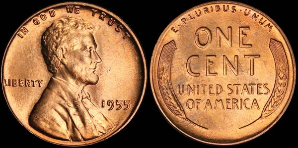 1955 P Lincoln Cent BU Uncirculated 5
