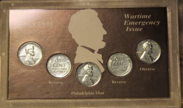 Wartime Collection 5 1943 Steel Lincoln Cent Emergency Set