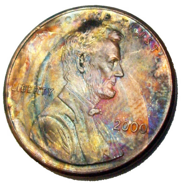 2000 Psychadelic Lincoln cent obverse