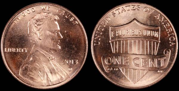 2013 D Lincoln Cent Uncirculated