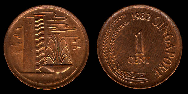 Sigapore 1 cent 1982