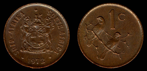 South Africa 1 cent 1972