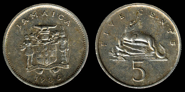 Jamaica 5 Cents 1986