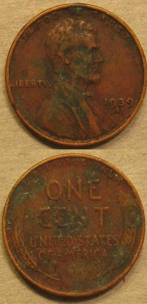 1939 S Lincoln Cent Green
