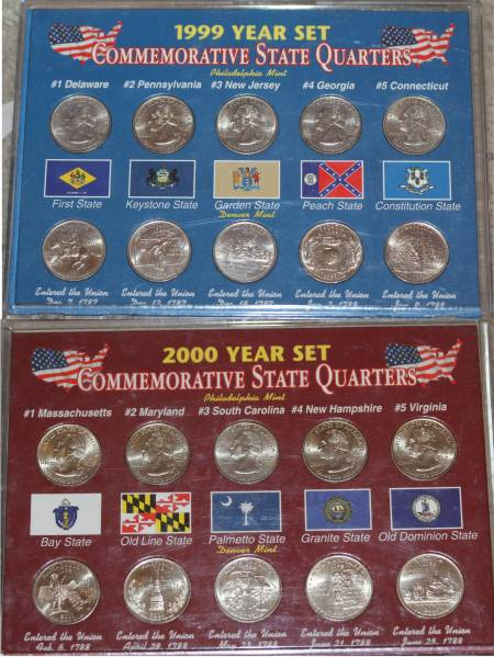1999-2000 Commemorative State Quarter Set P and D