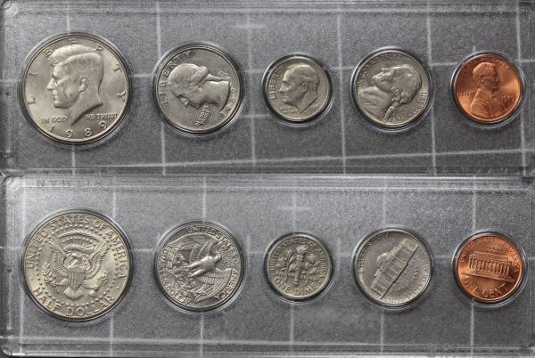 1989 US Coins Year Set Circulated