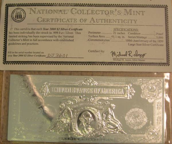 National Collector's Mint, Inc. is a New York-based company that sells privately produced coins and collectables. The company does not produce coins that are legal tender in the United States and is not affiliated, endorsed, or licensed by the U.S. government or the United States Mint.
