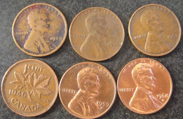 My results from seaching another box of cents/pennies